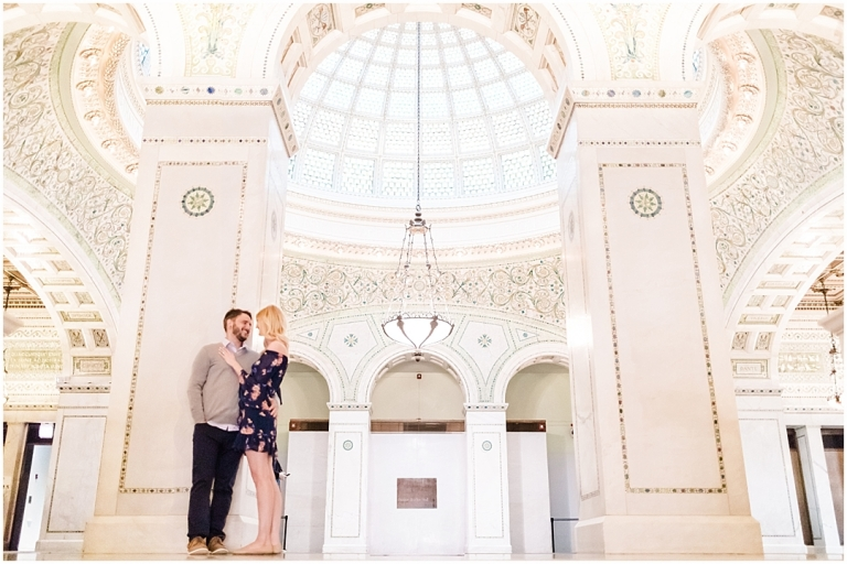 Andrew + Melissa | Chicago Cultural Center Engagement Chicago, Illinois